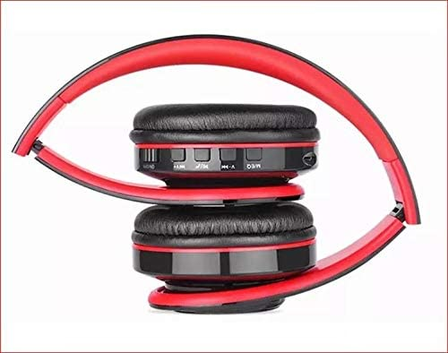 Bluetooth On-Ear Headphones. Black with Red Trim