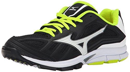 Mizuno Women's Players Training Shoe, Black/White, 8.5 M US (Shoes Mizuno Training Baseball)