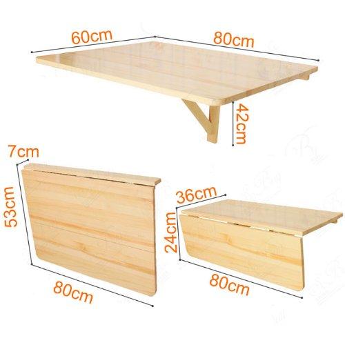 Mesa plegable de pared/mesa de cocina, plegable, ideal para niños ...