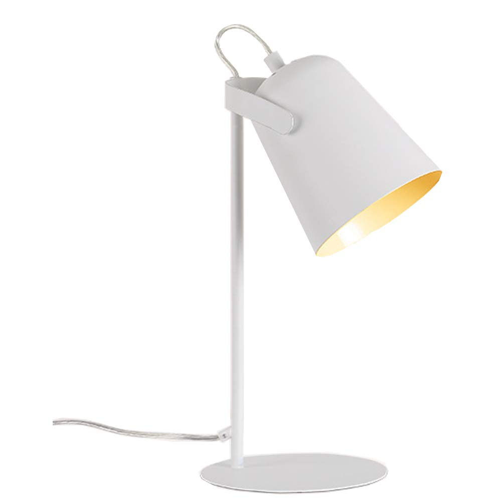 DDLONY Nordic Minimalistische Schreibtischlampe LED Leselampe Schlafzimmer Wohnzimmer Couchtisch Büro 110-220V E27