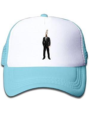 Guitar Head Funny Baby Boys AdjustableTrucker Visor Cap Infant Trucker Hat