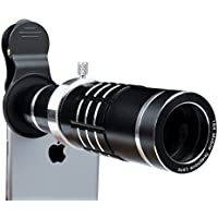 iPhone Lens 18X Telephoto Lens with Flexible Tripod and Universal Clip for iPhone Samsung and Most Smartphone (Black)