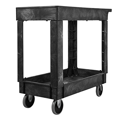 Rubbermaid Service/Utility Cart, 2-Shelf, 300 Pounds, 16 ...