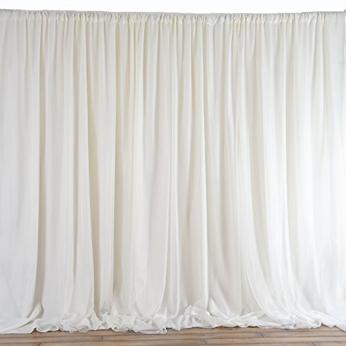 Efavormart 20ft x 10ft Chic-Inspired Party Wedding Backdrop Photography Background Fabric Photo Backdrop Studio Background - Ivory by Efavormart.com (Image #2)