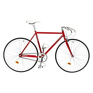 Critical Cycles Classic Fixed Gear Single Speed Bike with Pista Drop Bars