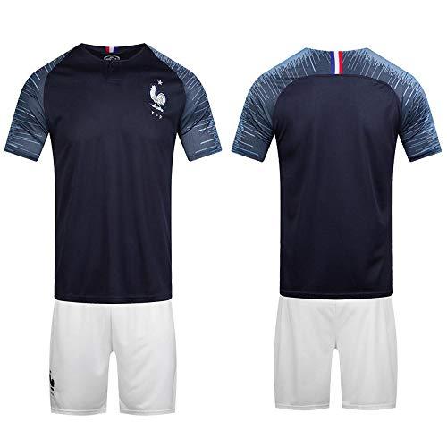 wholesale dealer ea1cd 3b430 2018 FIFA World Cup France Team Football Jersey suits Short-sleeved T-shirt  -code