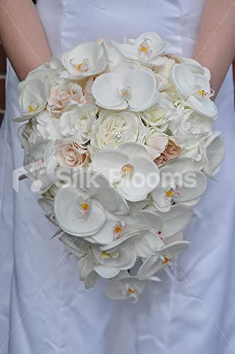 Bouquet Sposa Rose E Peonie.Amazon Com Pretty Artificial Orchid Rose And Peony Bridal