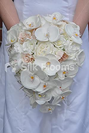 Pretty Orchidee Artificielle Rose Et Pivoine Mariee Goutte
