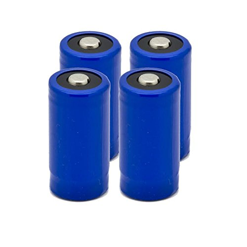 4 pcs Gulfe RCR123A 900mAh Rechargeable Li-Ion Battery 123A900 Four Pack - NEW