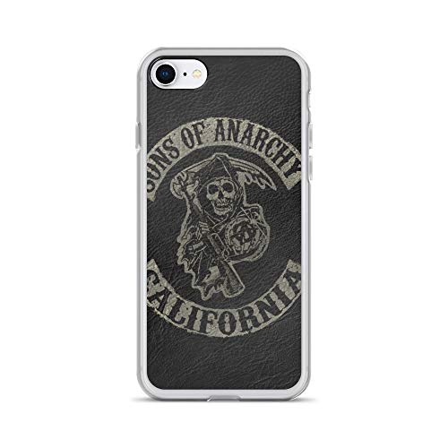 iPhone 7/8 Case Anti-Scratch Television Show Transparent Cases Cover The Sons of Anarchy Tv Shows Series Crystal Clear