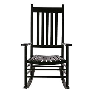 Shine Company 4332DG Vermont Porch Rocker Rocking Chair, Dark Green