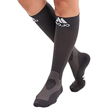 0082ef70c09 XXXL Mojo Gray Compression Socks 20-30mmHg - Extra Wide Calf Plus Sized 3XL  Medical
