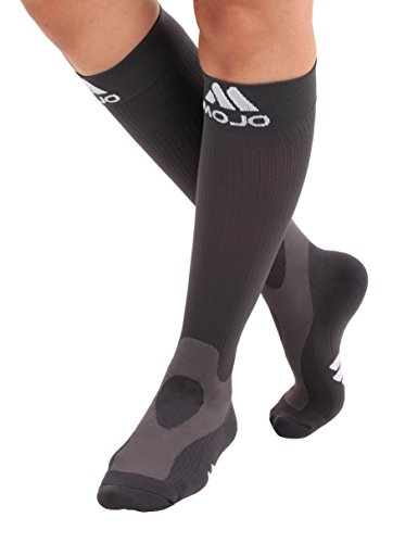 Mojo Coolmax Recovery & Performance Sports Compression Socks (XL, Grey) Unisex