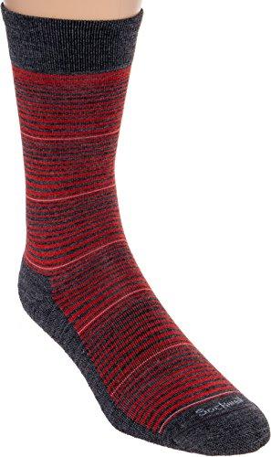 Sockwell Men's Bandwidth Socks (Charcoal, Medium/Large) by Sockwell