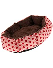 Serenable Soft Fleece Pet Bed Dog Bed Puppy Cat Warm Bed House Dots Print Nest Mat Pad