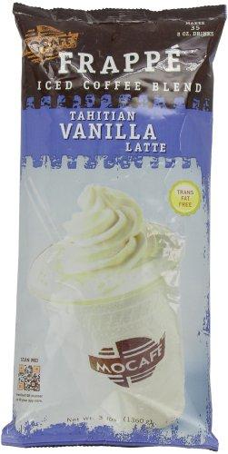 MOCAFE Frappe Tahitian Vanilla Latte, Ice Blended Coffee, 3-Pound Bag (Vanilla Coffee Tahitian)