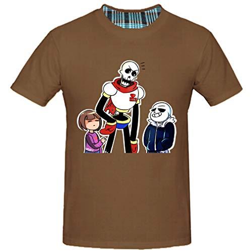 HM-L Mens Top Tee T Shirt (Chocolate,Large)