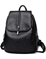 PU Faux Leather Backpack For Women And Teen Girls With Multiple Compartment