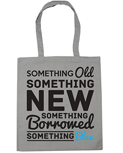 Something Beach 42cm Light Grey litres something new x38cm Tote Bag something something Shopping blue Gym old borrowed 10 HippoWarehouse fwqSdf