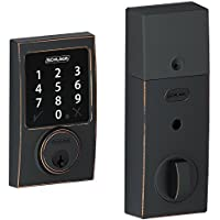 (New Model) Schlage Connect Century Touchscreen Deadbolt with Z-wave Technology and Extra Key (Aged Bronze)