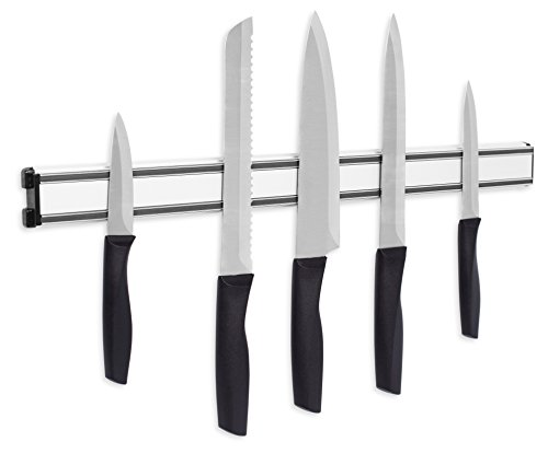 Internet's Best Magnetic Knife Rack | 20 Inch | Knife Storage Bar Strip | Aluminum | Metal Knives, Utensils and Kitchen Sets Holder (Kitchen Utensils Knives)