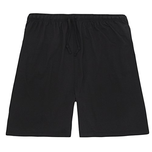 Men's Cotton Jersey Knee Shorts (Sizes 3XL-5XL) With Pockets Summer Pants