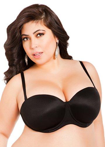Ashley Stewart Women's Plus Size 5-Way Convertible Bra - Size: 40DD, Color: Black - 5 Way Convertible Bras