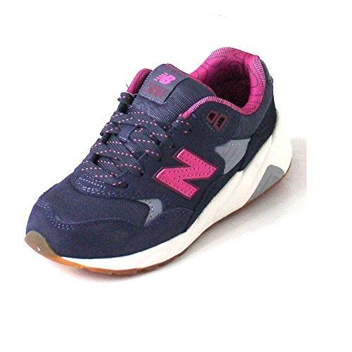 NEW BALANCE - Zapatilla deportiva violeta y fucsia con cordones, en gamuza y tela, con logo lateral y posterior, mujer, mujeres, Niña, Niñas Violeta