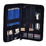 SUPVOX 48PCS Professional Sketch Drawing Pencil Set Carry Bag Art Kit for Artist