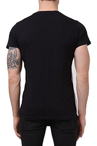 RELIGION Herren T-Shirt DOUBLE TROUBLE (S, weiß/schwarz)