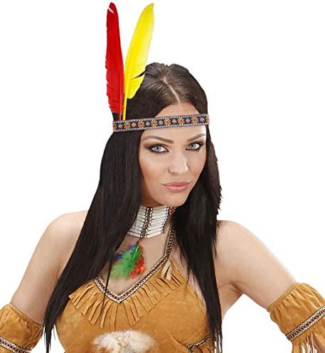 INDIAN PENNA Cerchietto ADULTO UNISEX Smiffys Costume Accessorio