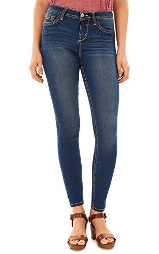 (WallFlower Women's Juniors High Rise Irresistible Denim Jegging in Varsity Blue Size: 15 )