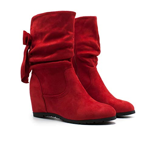 De Mujer Tacon Invisible Bota Rojo Color W860 Para Con Zapshop xqXfzOw
