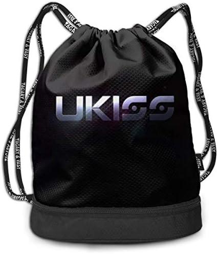メンズ レディース 兼用u-Kiss (4) ナップサック アウトドア ジムサック 防水仕様 バッグ 巾着袋 スポーツ 収納バッグ 軽量 バッグ 登山 自転車 通学・通勤・運動 ・旅行に最適 アウトドア 収納バッグ
