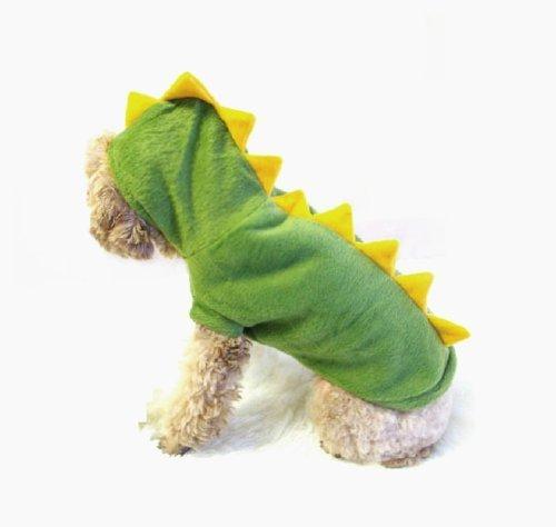 T Rex Cat Costume (Gollyking Dogs Cat Pets Jumpsuit Crocodile Clothes Godzilla Apparel Dragon T-rex Dinosaur Raptor Plush Costumes T Shirt (Yellow Green, Medium))