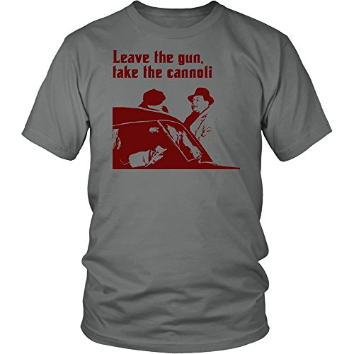 Leave The Gun. Take The Cannoli - The Godfather Unisex T-Shirt Grey