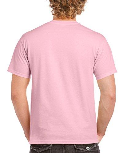 Gildan Manches shirt T Rose Courtes Clair Homme À rtwrp1xqO