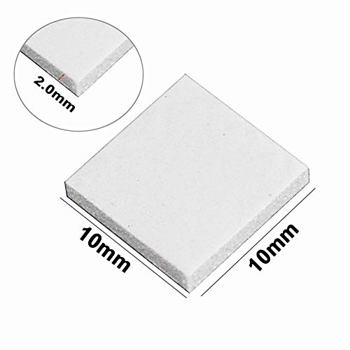 (Wathai Off-White 100pcs 10x10x2mm Thermal pad GPU CPU PS3 PS2 Xbox Heatsink Cooling Silicone Pad)