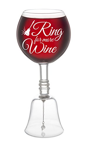 Bell Bottom Glass - BigMouth Inc Ring for More Wine Wine Glass, Novelty Bell Glass, 10 inches Tall Funny Wine Gift