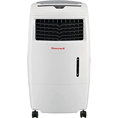 Honeywell 500 CFM Indoor Portable Evaporative Cooler with Fan & Humidifier, Carbon Dust Filter & Remote Control, CL25AE