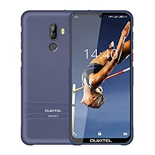 OUKITEL Y1000 - Rugged Smartphone Unlocked Android 9.0 Waterproof IP68 Unlocked Cell Phones Cortes-A7, 6 Inch Waterdrop Display Non-Detachable Silicone Case Global 3G Dual Sim Card Shockproof
