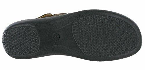 Cushion Walk Summer Slingback Sandals Twin Strap Womens Comfort UK 3-8 Brown qLm8V5e
