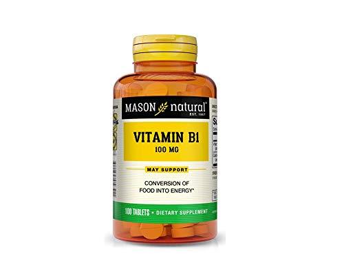 Mason Vitamins Mason Naturals Vitamin B-1 100 Mg Tablets – 100 Ea
