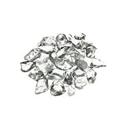 CYS Vase Filler Crushed Glass Table Scatters, Clear, 1 lb per bag (16 bags), D-0.2\