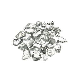 Vase Filler Glass Crushed Sand, Clear, 1 lbs bag (8 bags) GGM013