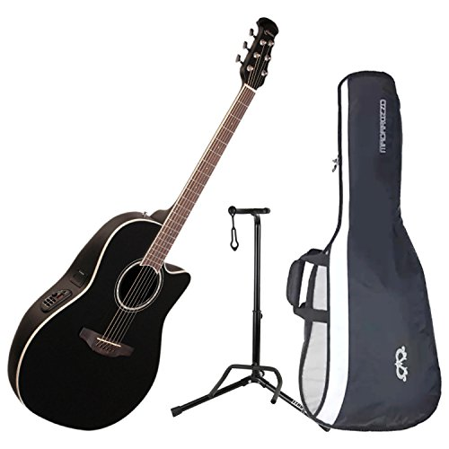 Ovation CS24-5 Celebrity Standard Mid-Depth Black Acoustic/Electric Guitar with