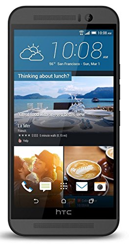 (HTC One M9 32GB Android Smartphone w/ Front-Facing Speakers and 20MP Camera Unlocked for all GSM Carriers Worldwide - Gunmetal Gray)