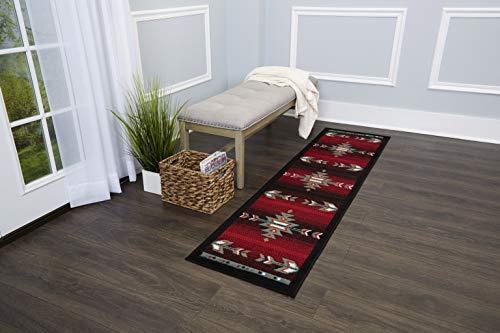 Home Dynamix 7053-450 Sagrada Southwest Area Rug 2x7 Black