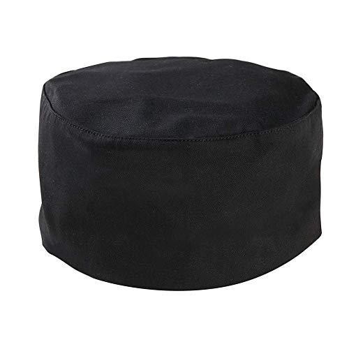 (Gracelife Chef Cap Poly-Cotton Blend Pill Box Chef Hat Flat - Color Optional (Black))