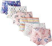 Evelin bee 6-Pack Baby Girls Underwear Cotton Boyshort Panties Cartoon Soft Boxer Briefs
